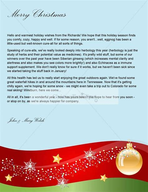 write great christmas letters