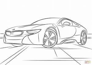 Disegno di BMW i8 da colorare Disegni da colorare e