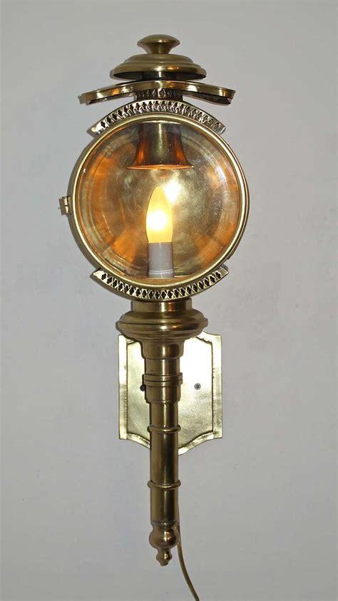 brass carriage l lantern sconce at 1stdibs