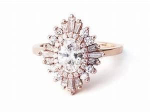 oval gatsby ring art deco boho geometric cluster With gatsby wedding ring