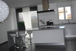 Cuisine Blanche Ikea : plan de travail ikea gris affordable cuisine grise plan ~ Preciouscoupons.com Idées de Décoration