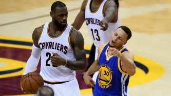 lebron james laughs as stephen curry flails and nba finals