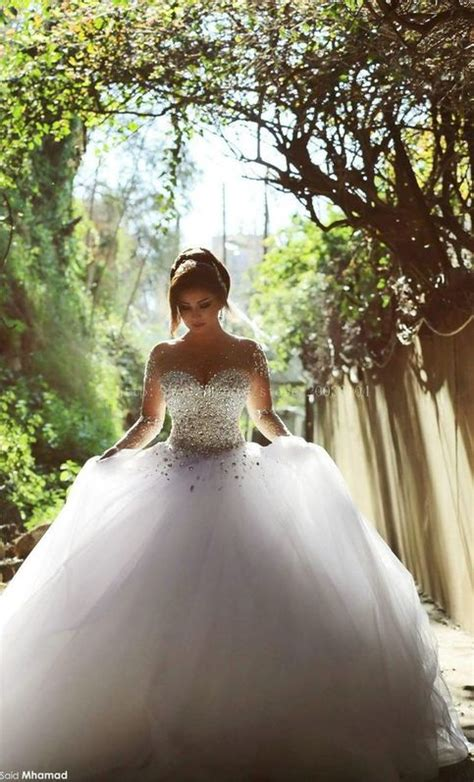 Elegant Ball Gown Wedding Dresses 2015 Long Sleeve