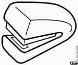 Colorear Papel Manual Pintar Grapadora Oficina Material Nietmachine Dibujos Handmatige Nietapparaat Kleurplaat Graffettatrice Manuale Kleurplaten Kantoorartikelen Papier Stapler Colorare Ufficio sketch template