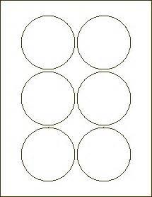 30 Per Sheet Label Template 3 Inch Circle Labels Laser Labels For Inkjet And Laser Printers