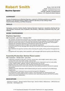 resume knowledge and skills machine operator resume samples qwikresume