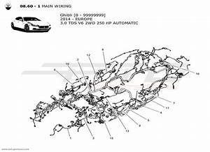 Maserati Ghibli V6 3 0l Diesel Auto 2014 Main Wiring Parts