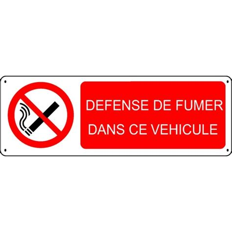 malette de bureau panneau défense de fumer dans ce véhicule stocksignes