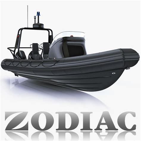 Zodiac Boat Rib by Boat Zodiac 3d Model
