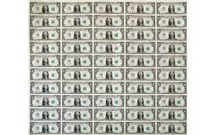 Prints of Uncut Money Sheets