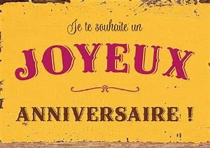 Carte postale « Joyeux anniversaire » - Art Grafik - Dans