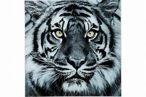 Tableau En Verre : tableau tigre en verre sharon tableau animaux pas cher ~ Melissatoandfro.com Idées de Décoration