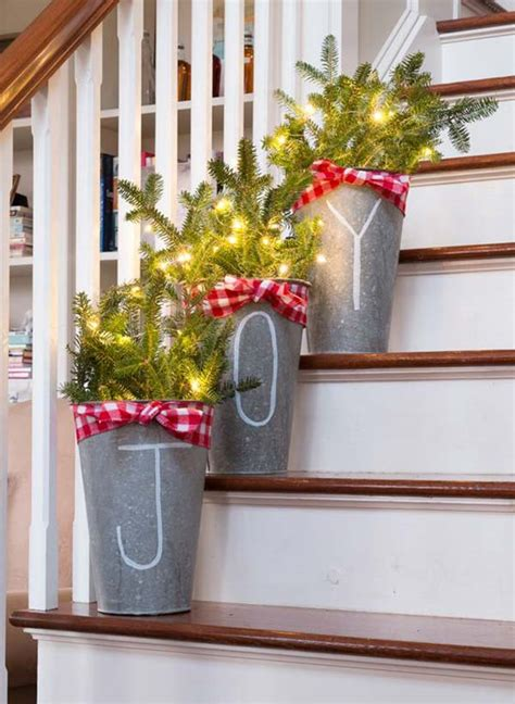 creative ideas   galvanized buckets  holiday decor