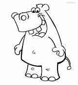 Hippo Coloring Cartoon Cool2bkids Printable Getcolorings sketch template