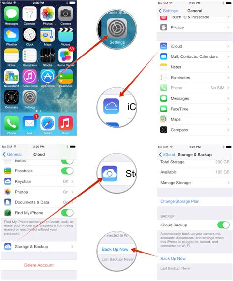 how to backup iphone 5 to icloud how to back up to icloud before updating to ios 8 imore