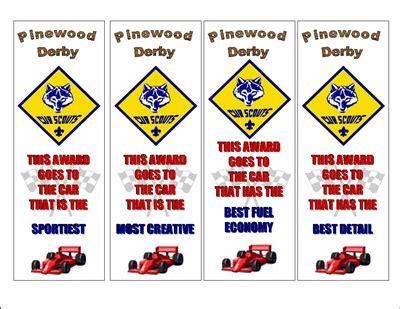 pinewood derby certificates  idea door
