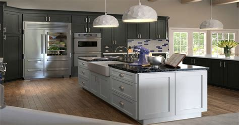 recessed panel kitchen cabinets pre assembled ready  assemble rta cabinets