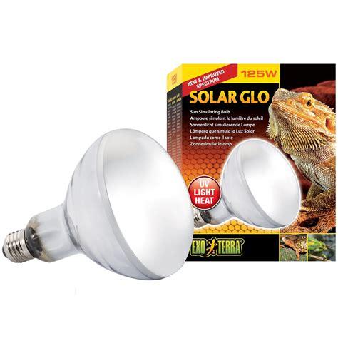 uva uvb light bulbs exo terra solar glo heat bulb daylight reptile lighting
