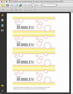 printable free bubble labels for party favors merriment With bubble label template