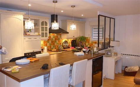 cuisine dinatoire réalisation d 39 une cuisine ouverte avec création îlot central et verrière 95240 cormeilles en