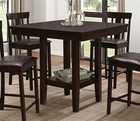 espresso counter height dining table homelegance diego counter height dining table espresso