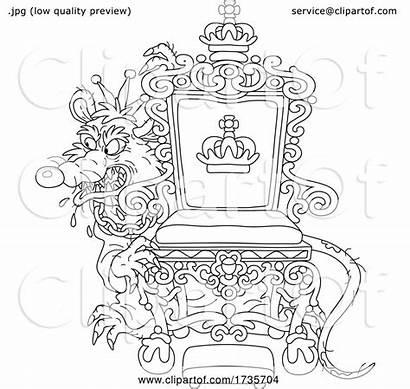 Throne Rat Evil Behind King His Bannykh
