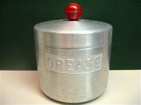 vintage aluminum kitchen grease jarcontainer turner specialty mfg houston tx  antique