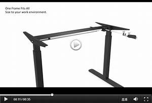 Manual Adjustable Desk Frame Table Height Mechanisms