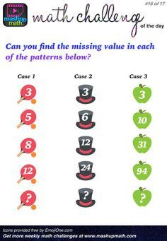 printable math challenges puzzles images math