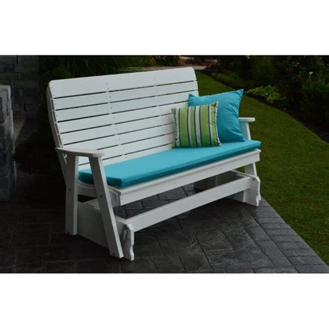 foot winston glider bench  poly lumber recycled plastic