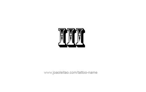 iii roman numeral tattoo design page    tattoos