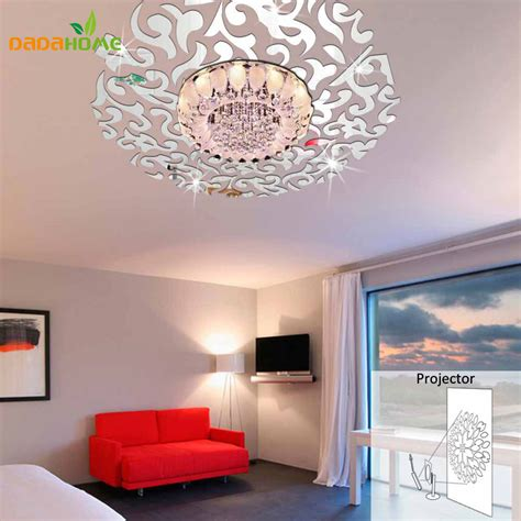 home interiors mirrors creative 3d home decor mirror wall stickers living room