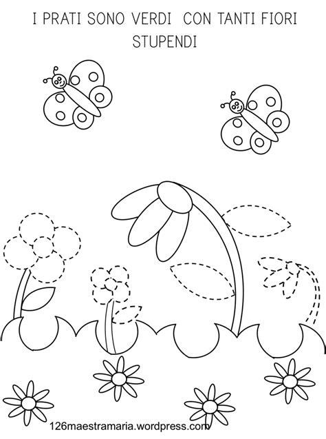 schede da colorare primavera pregrafismo di primavera maestramaria