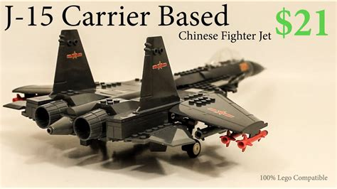 lego   chinese fighter jet timelapse review youtube