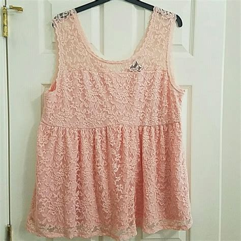 light pink tank top 58 off torrid tops lacey light pink tank top from emile