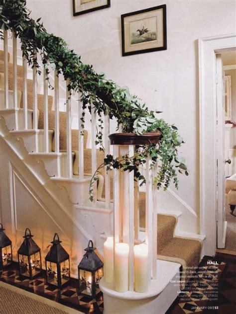 beautiful christmas stairs decor