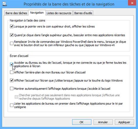 windows 8 1 bureau démarrer windows 8 1 sur le bureau