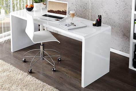 bureau design laqué blanc bureau design elegance blanc laque xl