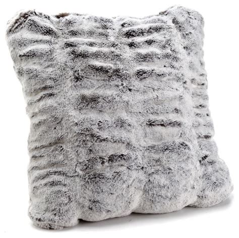 gray fur pillow shop houzz fabulous furs couture collection faux fur