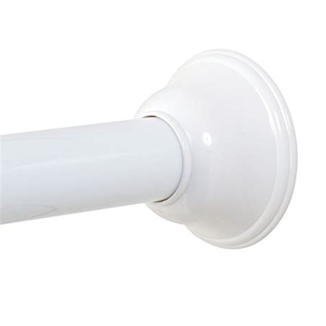 zenna home 771ww tension shower curtain rod 43 to 72