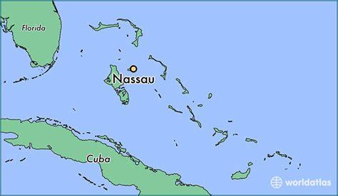 where is nassau the bahamas nassau new providence map worldatlas