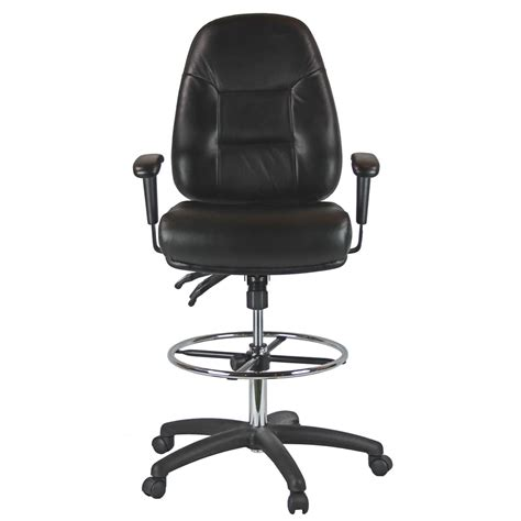 Drafting Chair With Arms by Premium Leather Drafting Chair With Arms