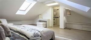 lit sous pente dans une chambre inspirations et salle de With salle de bain dans chambre sous comble