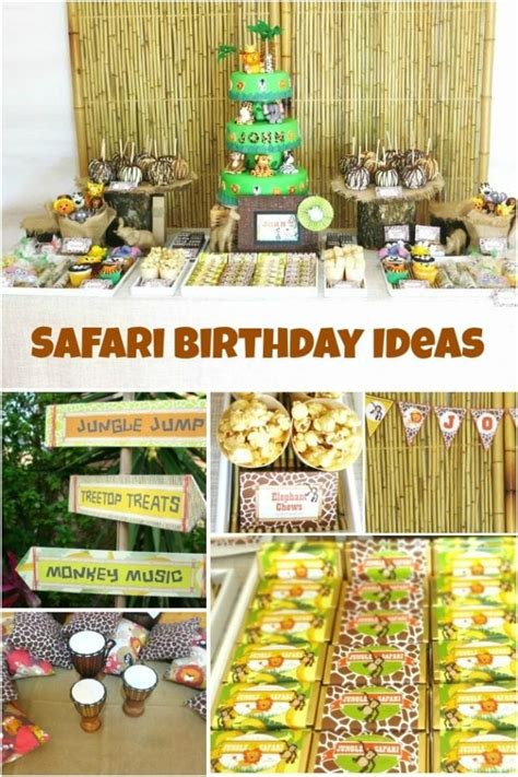 Jungle Safari Themed First Birthday Party Spaceships and