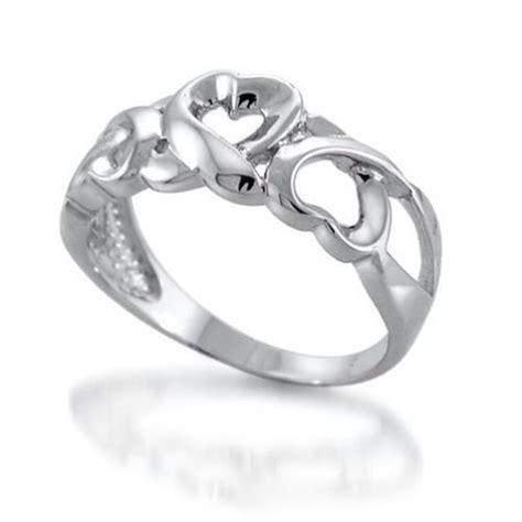 sterling silver open loving heart twist ring discount