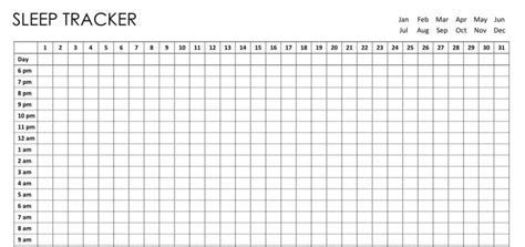 Bullet Journal Sleep Tracker Printable