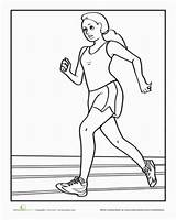 Coloring Pages Sports Running Track Preschool Race Sheets Worksheet Child Field Worksheets Printable Run Sport Runner Education Olympic Printables Hebrews sketch template