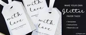 instructions templates to make your own wedding favor tags With create your own favor tags