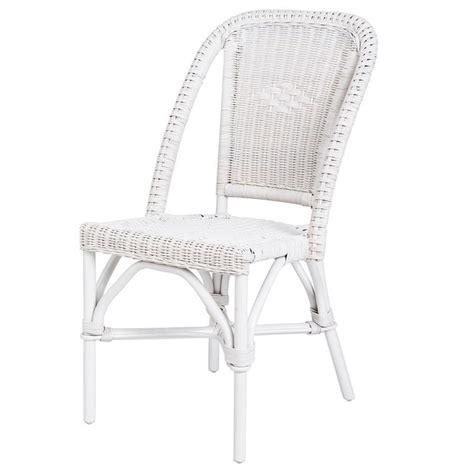 chaise en rotin blanc selva rotin design lot de 6 chaises soldes chaises la redoute iziva