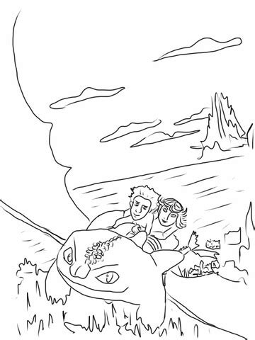 astrid  hiccup ride night fury coloring page  printable coloring pages